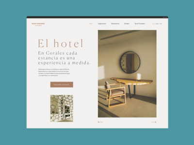 The Experience Design Hotel hotel sketch visual design web design web interface ui