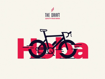 Hoba Model. The Draft. bike icon cycling bicycle