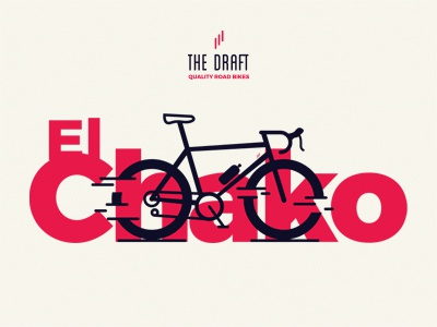 El Chako Model. The Draft. bike icon cycling bicycle