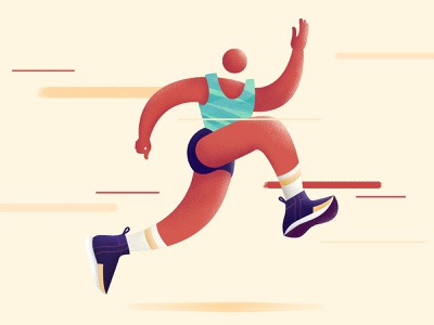 Running On Our Own, Not Alone runners illustration nike running run running runner