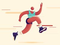 Running On Our Own, Not Alone runners illustration nike running run running runner