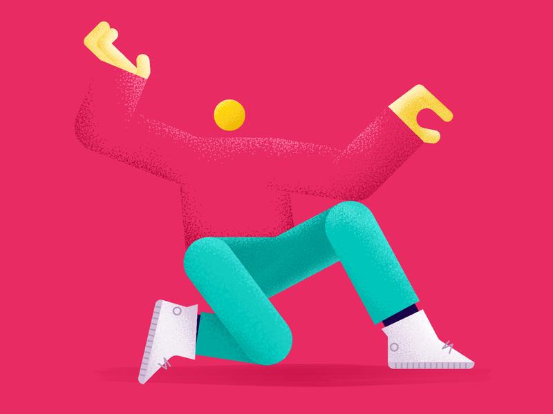Stipple or Texture design stipple textures friends dancing dance affinity designer vogue illustration