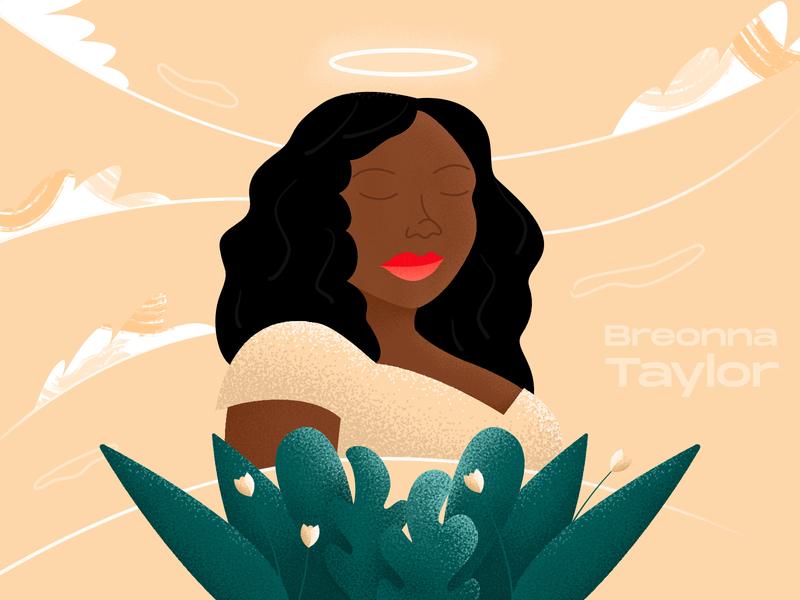 Rest In Power Breonna justice vector illustration blm black blacklivesmatter breonna taylor