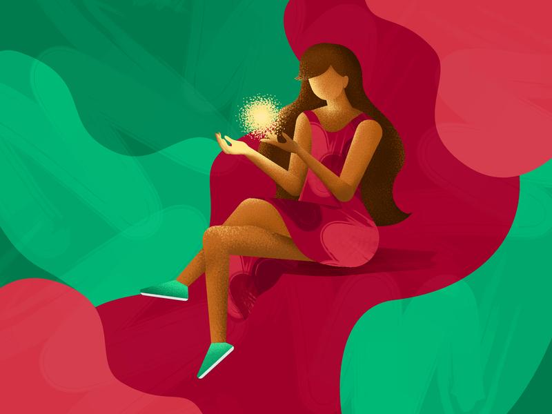 Let it Shine affinity designer illustration design dream hope