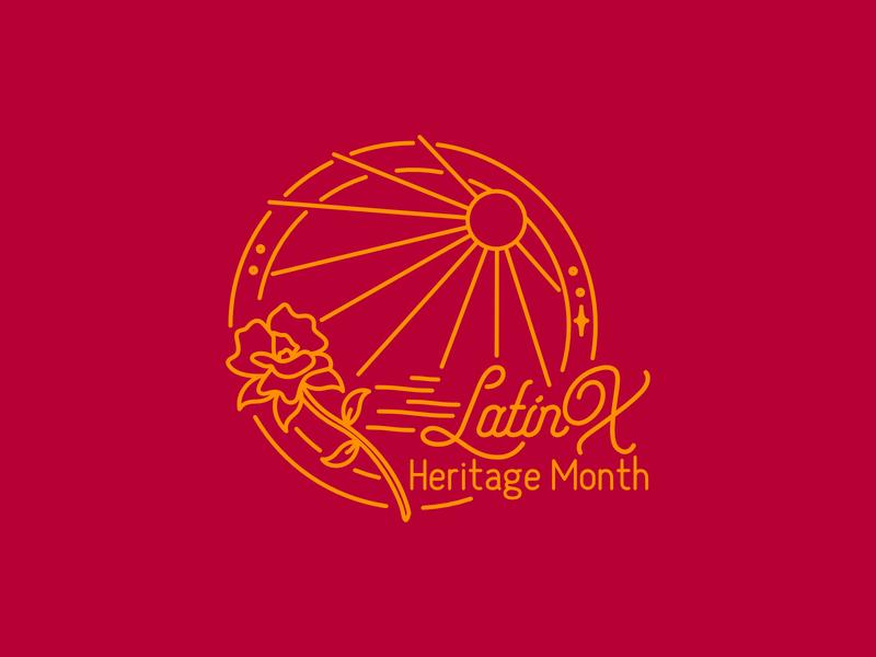 LatinX Heritage Month logo logo design logo latin hispanic hispanic heritage latinx
