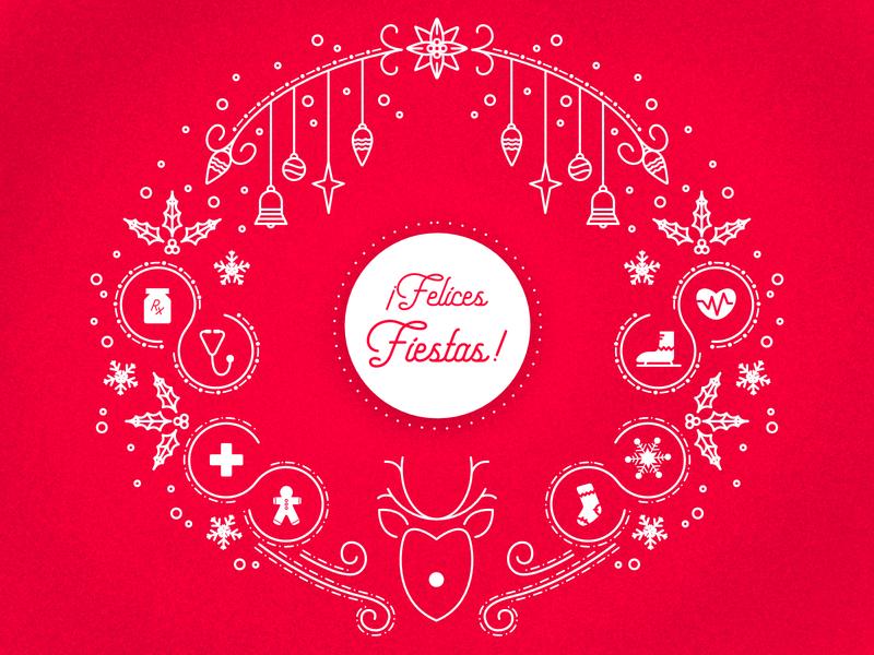 Felices Fiestas (Happy Holidays) affinity designer icons illustration fiesta holiday design spanish holiday