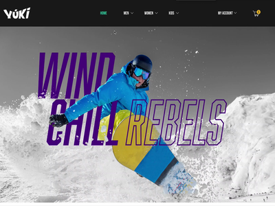 Yuki Snowboarding Website snow web design web snowboarding