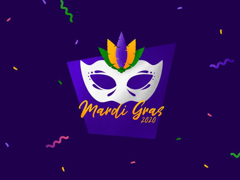 Mardi Gras 2020 logo affinity designer carnival logo branding festival illustration mardi gras party mardigras