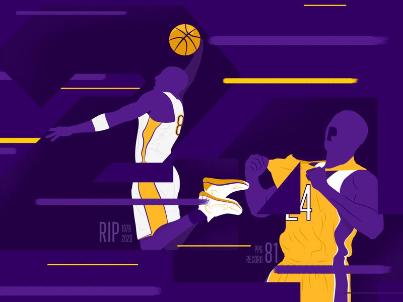 Kobe Tribute illustration basketball player basketballs kobe bryant kobe