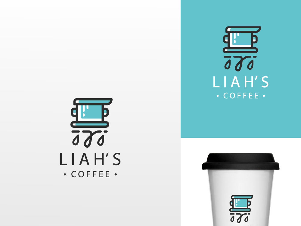 Coffee Drip Logo minimal ux ui fp93 unused company shop 99designs dribbble illustration simple lineart flat icon branding identity illustrator design vector logo