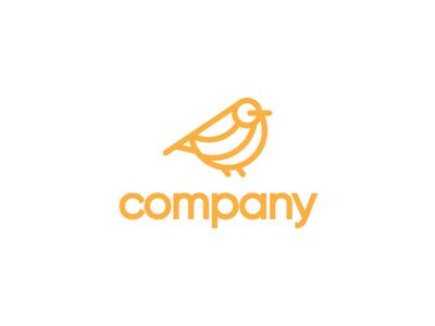 Orange Sparrow Logo elegant luxury sophisticated geometric animals nature sparrow birds app modern fp93 company identity branding icon lineart simple design vector logo