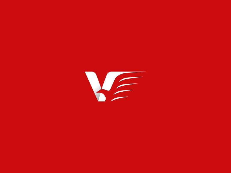 Victory Eagle Logo brave travel logistics delivery shipping success victory letter animal bird eagle modern company simple identity branding design vector logo
