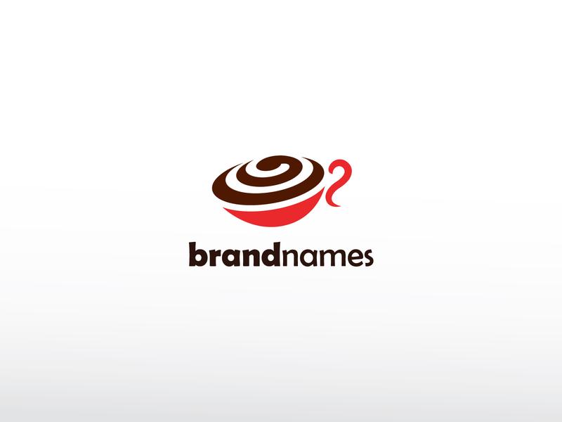 Mix Coffee Logo people community warm hot drink cup swirl cafe vanilla mix coffee ui app modern identity branding simple design vector logo