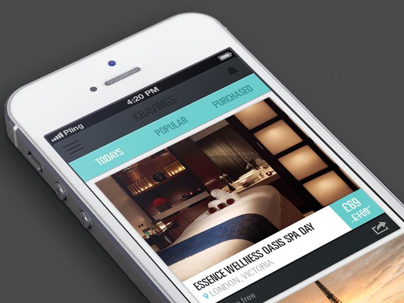 Kraved app iphone ui deals slick clean