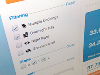 Flight search and filtering