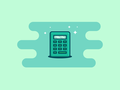 Calculator line outline money icon currency calculator
