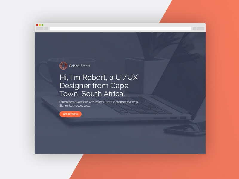 Coming Soon Page ux ui consultant design website i am robert smart coming soon page