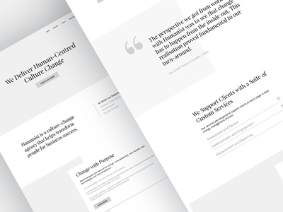 Wireframes for Humanist