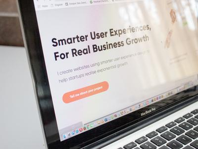 Portfolio Site portfolio animation web ux typography branding ui design startup webflow hubspot inbound marketing