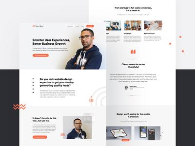 Robert Smart Website portfolio site webflow minimal website animation web app ux branding vector ui design