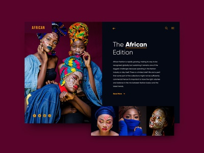 The African Edition web web app app ux typography fashion ui design design exploration magazine african africa