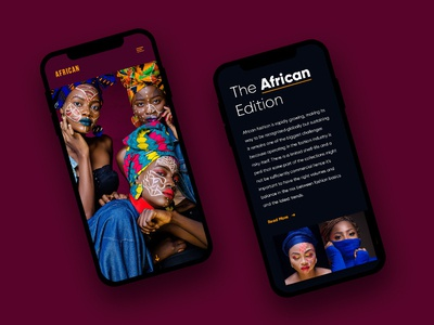 The African Edition - Mobile web web app app ux typography fashion ui design design exploration magazine african africa