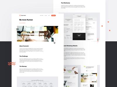 Humanist Case Study webflow web vector ux ui site portfolio minimal design branding app animation