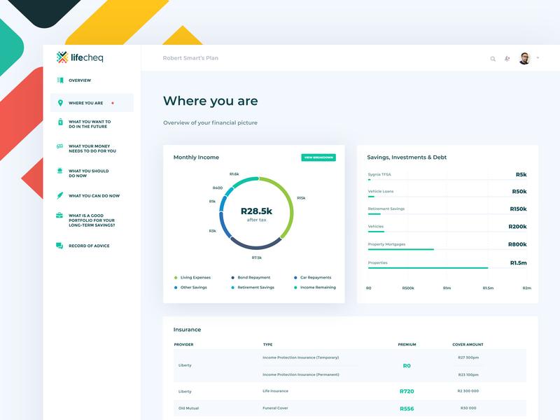 Lifecheq Dashboard web app vector ui design ux design minimal ux web ui design app