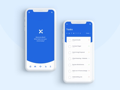 Daily Task App application flat flat color app design adobe xd daily challenge vector minimal design ux ui app