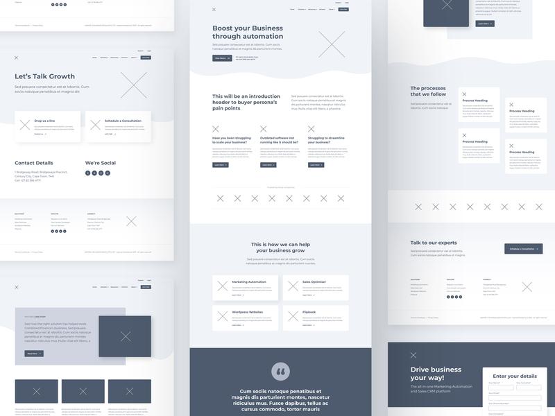 IM Marketing Website Wireframe marketing website marketing vector branding wireframe minimal website web ux ui design