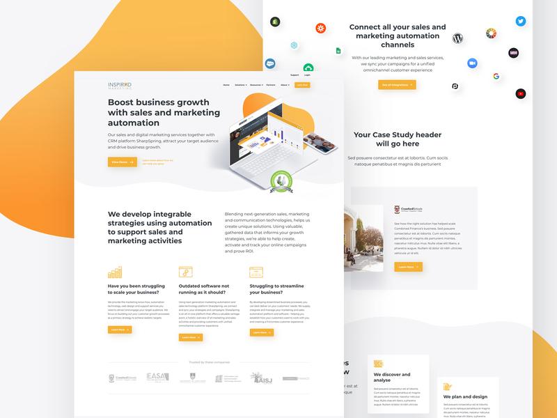 IM Website 3d illustration marketing website marketing automation inbound marketing branding web ux website ui design