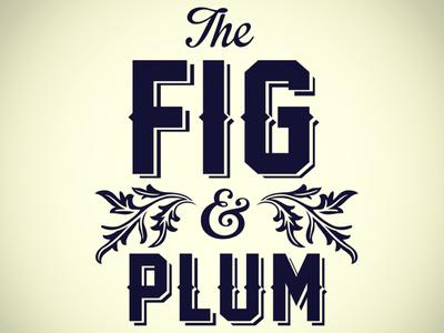 Fig & Plum logo type restaurant logo