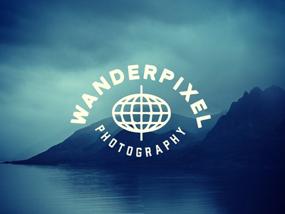 Wander Pixel Photography ident branding icon travel photography logo