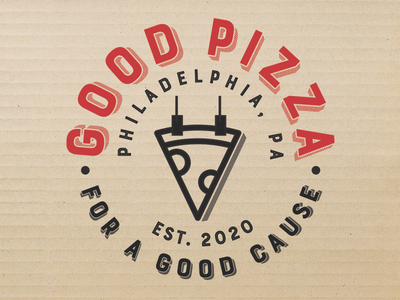 Good Pizza brand logo one bite philly pizza