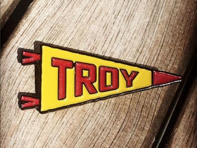 Troy, NY Pennant Pin