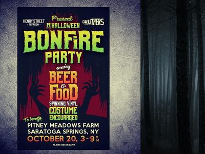 Bonfire Party Poster