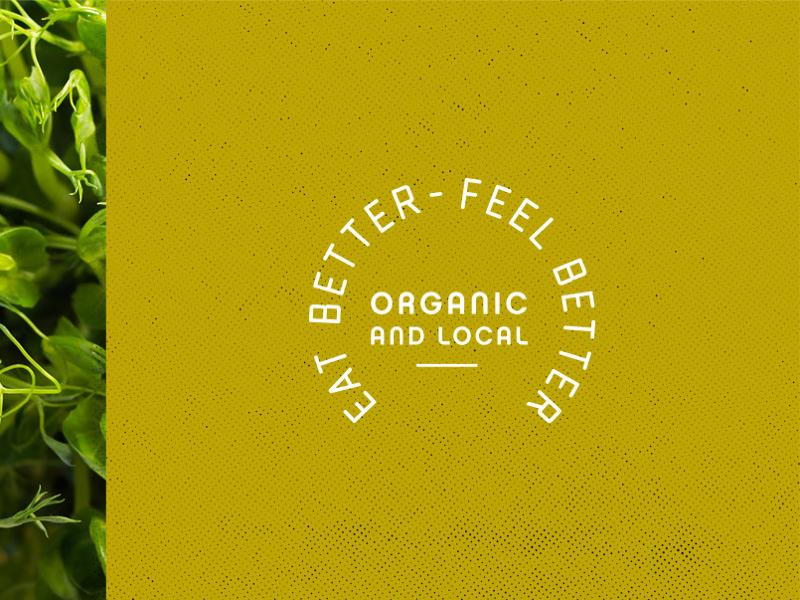 Eat Better Feel Better mark farming micro green heathy packaging organic logo brand