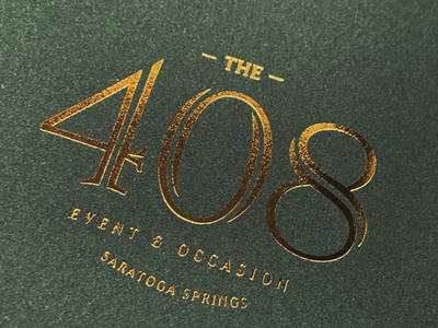 The 408 Event and Occasion restaurant saratoga logo brand