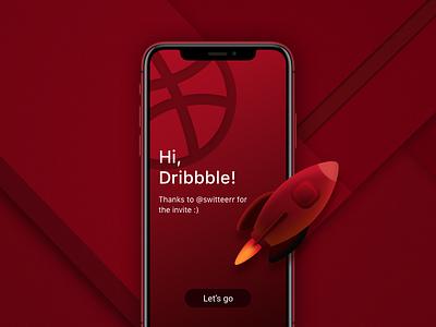 Hey Dribbble community! illustration design ui