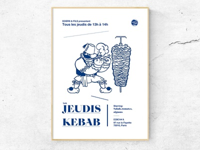 Les Jeudis Kebab silly poster thursday kebab