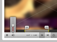 Video Player UI - Volume Slider + In/Out Points