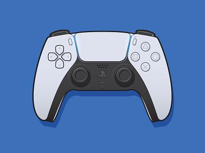 Dual Sense PS5 illustration ps5 ps playstation remote gaming console vector