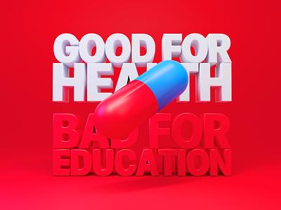 Good for health, bad for education pill kaneda akira blender 3d