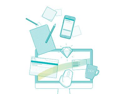 TriOptima Design System vector design system ui illustration