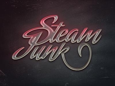 Steam Junk metal photoshop