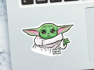 Baby Koda baby yoda koda dev sticker