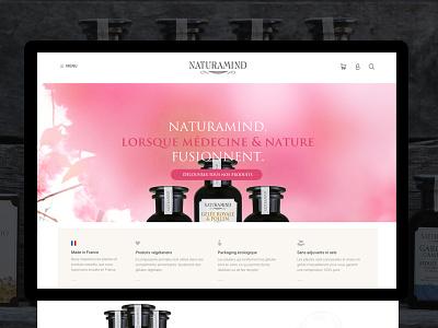 Naturamind   E-commerce minimal design web responsive ux ui e-commerce grid clean