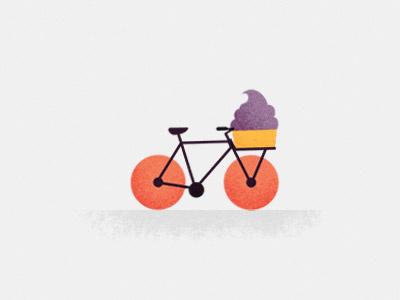 Yo on the go. bike frozen yoghurt ice cream ride basket bicycle
