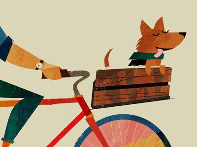 Kina dog bike bicycle basket comrade buddy mate kina