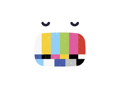 Test Signal smiley tv test signal face open swallow dinner